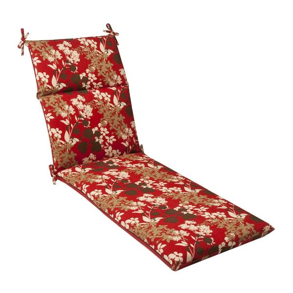 Pillow Perfect Striped Red Brown Floral Cushion Chaise Lounge