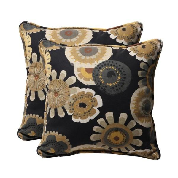 Decorative Outdoor Floral Throw Pillow