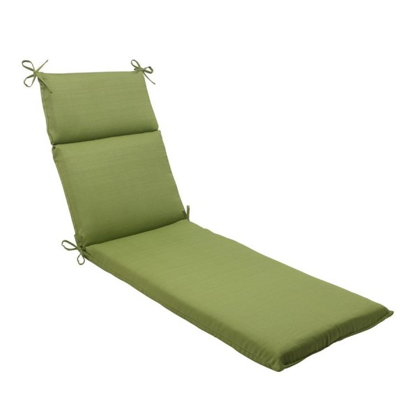 Pillow Perfect Forsyth Green Solid Cushion Chaise Lounge