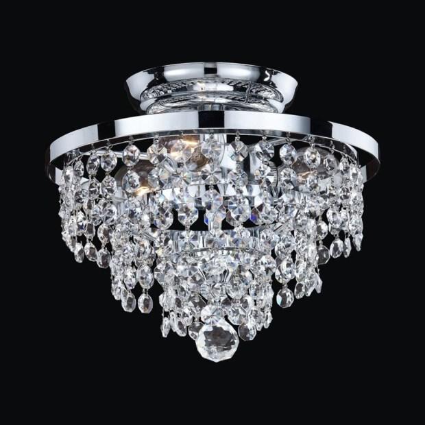 Crystal Semi Flush Mount Ceiling Lights