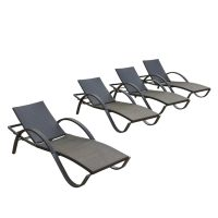 Shop RST Brands Deco 4-Count Wicker Stackable Patio Chaise ...