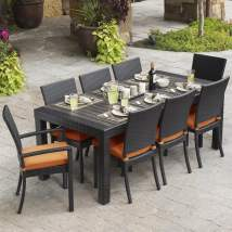 Rst Brands Deco 9-piece Brown Wood Frame Wicker Patio