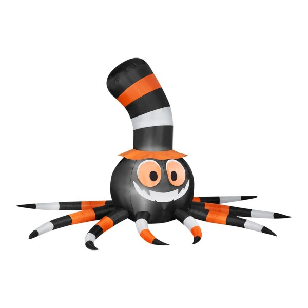 Gemmy Spider With Stove-pipe Hat 5.58-ft X 9.51-ft