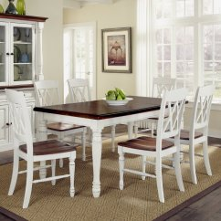 Dining Table And Chair Sets Sheepskin Pad Canada Home Styles Monarch White Oak 7 Piece Set With