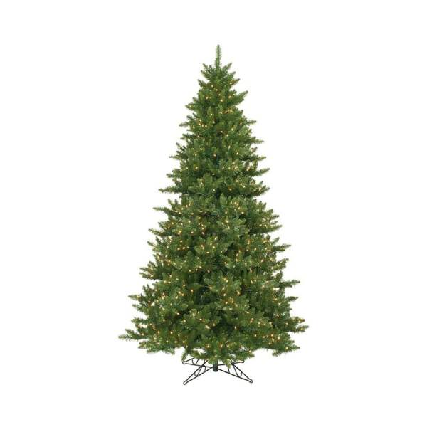 Vickerman 12-ft Pre-lit Camdon Fir Artificial Christmas Tree With White Incandescent Lights