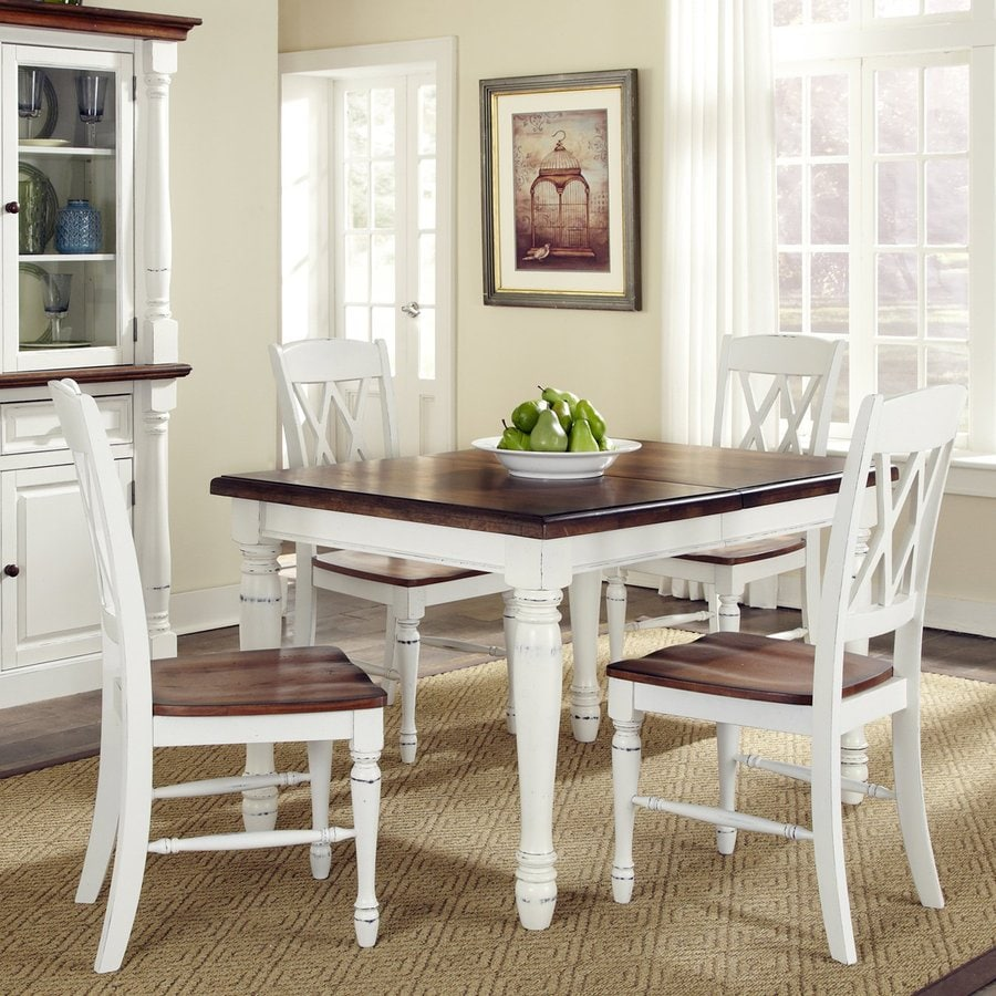 oak and white dining chairs who reupholstered home styles monarch 5 piece set with table