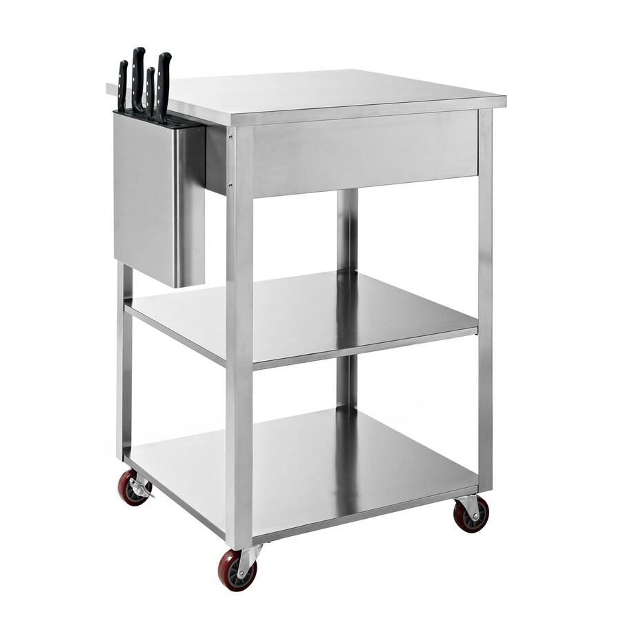 stainless kitchen cart grill crosley furniture steel rectangular at lowes com
