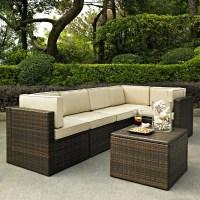 Shop Crosley Furniture Palm Harbor 6-Piece Wicker Patio ...