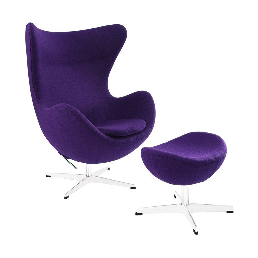 Purple Accent Chair Modway Glove Purple Accent Chair At Lowes