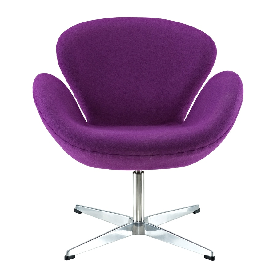 Purple Accent Chair Modway Wing Purple Accent Chair At Lowes