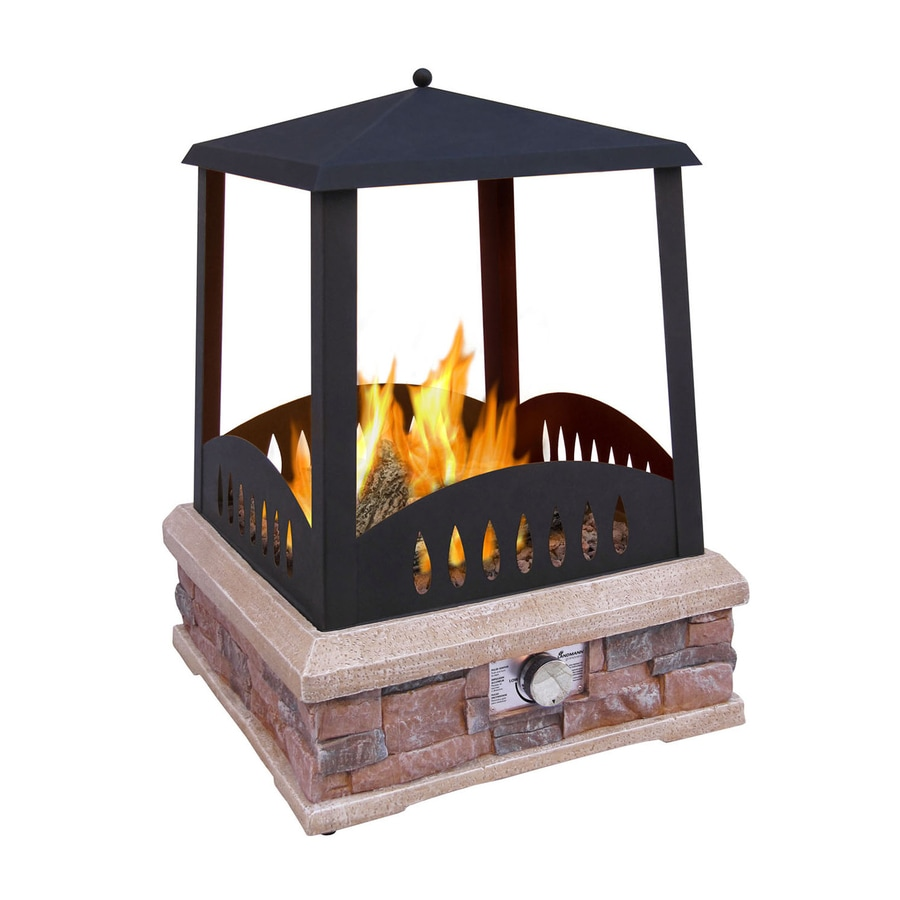 Shop Landmann USA 38000 BTU Black Steel Outdoor Liquid Propane Fireplace at Lowescom