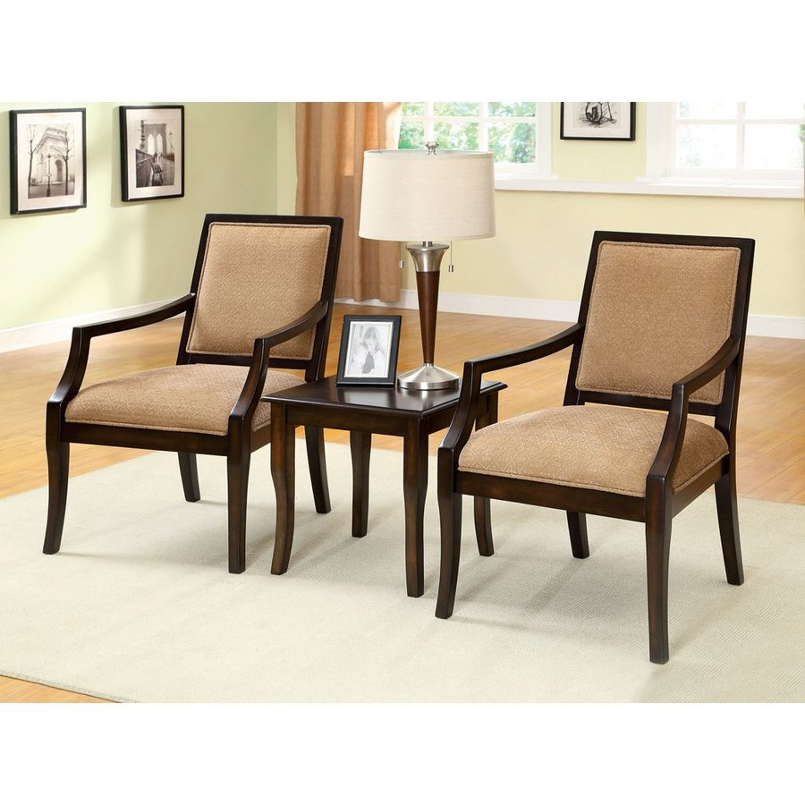 living room sets with accent chairs ideas for walls furniture of america 3 piece boudry espresso set at