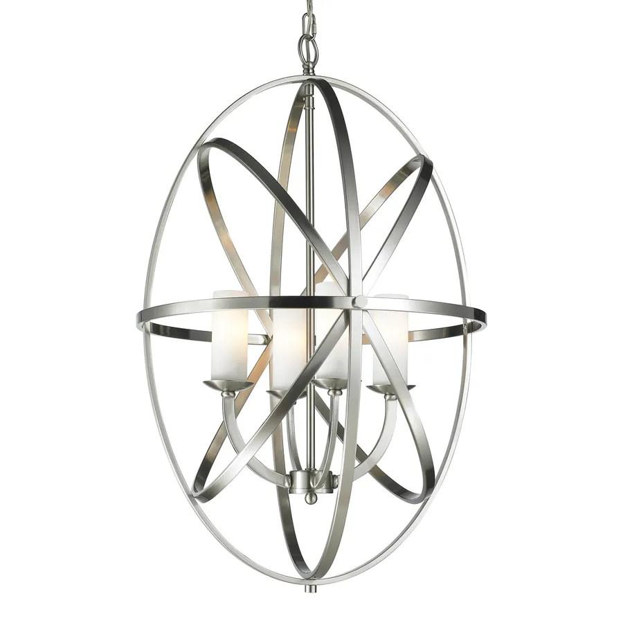 Shop Z-Lite Aranya 19.69-in 4-Light Brushed nickel Cage