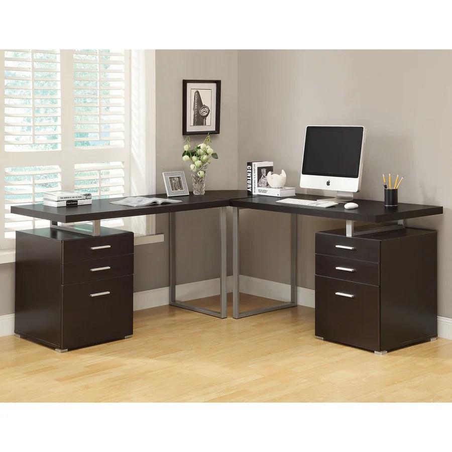 Shop Monarch Specialties Contemporary LShaped Desk at