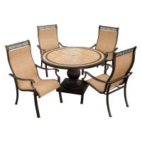 Shop Hanover Outdoor Furniture Monaco 5-Piece Bronze Stone ...