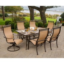Hanover Outdoor Furniture Monaco 7-piece Bronze Stone