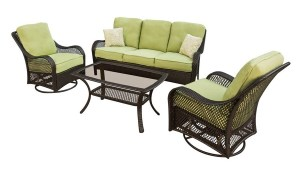 Hanover Outdoor Furniture Orleans 4 Piece Wicker Frame