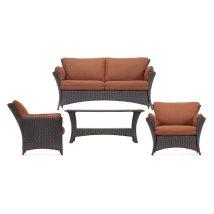 Hanover Outdoor Furniture Strathmere 4-piece Wicker Frame