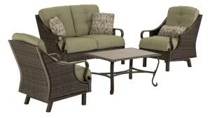 Hanover Outdoor Furniture Ventura 4 Piece Wicker Frame