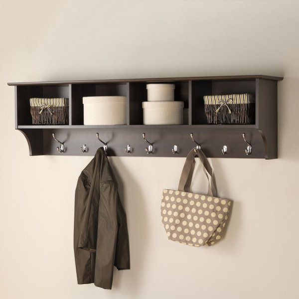 Shop Prepac Furniture Espresso 9Hook Mounted Coat Rack at