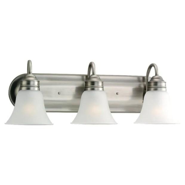 Brushed Nickel Bathroom Vanity Light Fixtures