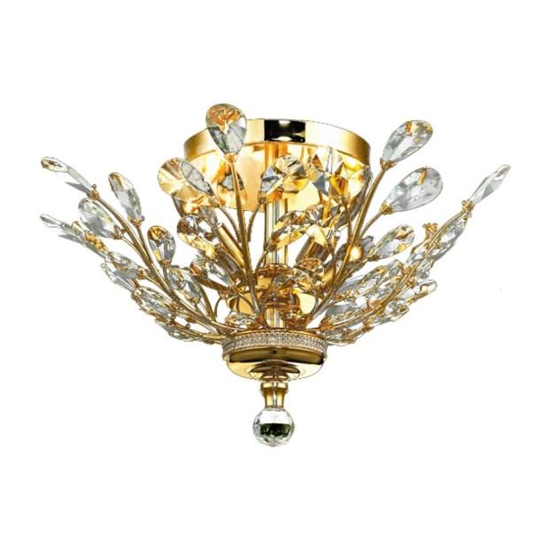 Crystal Semi Flush Mount Light