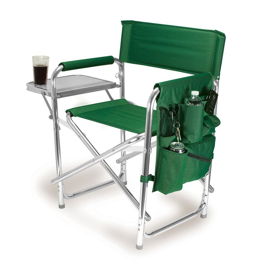 lowes camping chairs resin white picnic time green aluminum folding chair at com