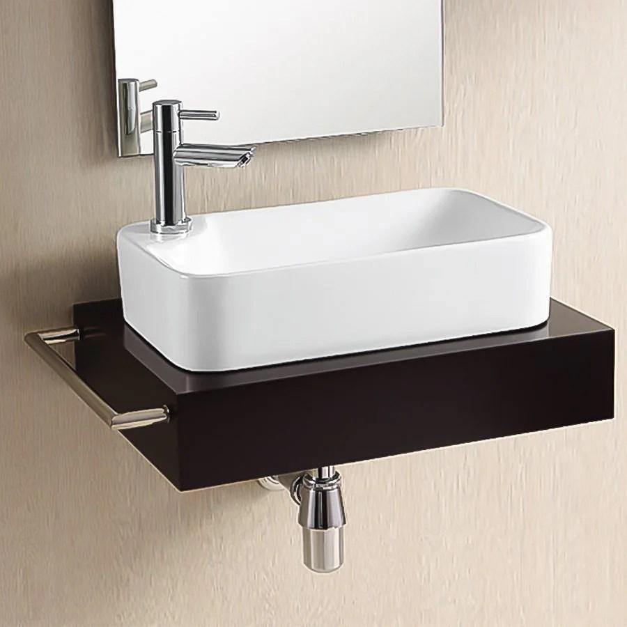 Nameeks Ceramica White Ceramic Vessel Rectangular Bathroom