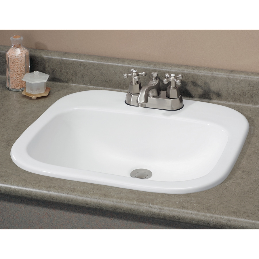 Shop Cheviot Ibiza White Dropin Rectangular Bathroom Sink with Overflow at Lowescom