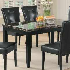 Black Square Pub Table And Chairs High Chair For Kitchen Counter Shop Coaster Fine Furniture Anisa Faux Marble Dining At Lowes.com