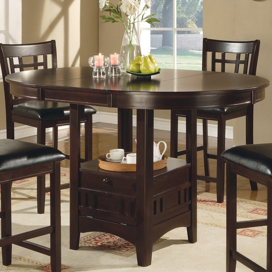 Shop Coaster Fine Furniture Lavon Cappuccino Oval Dining Table at Lowescom