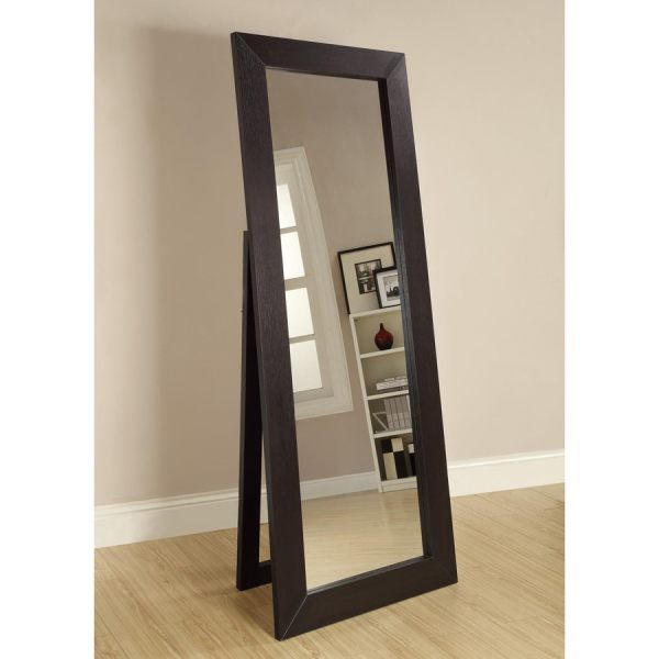 Shop Coaster Fine Furniture 28-in x 72-in Black Beveled ...