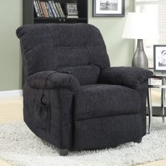 Recliner Chair Covers Grey Leather Scoop Back Dining Chairs Coaster Fine Furniture Dark Chenille Powered At Lowes Com