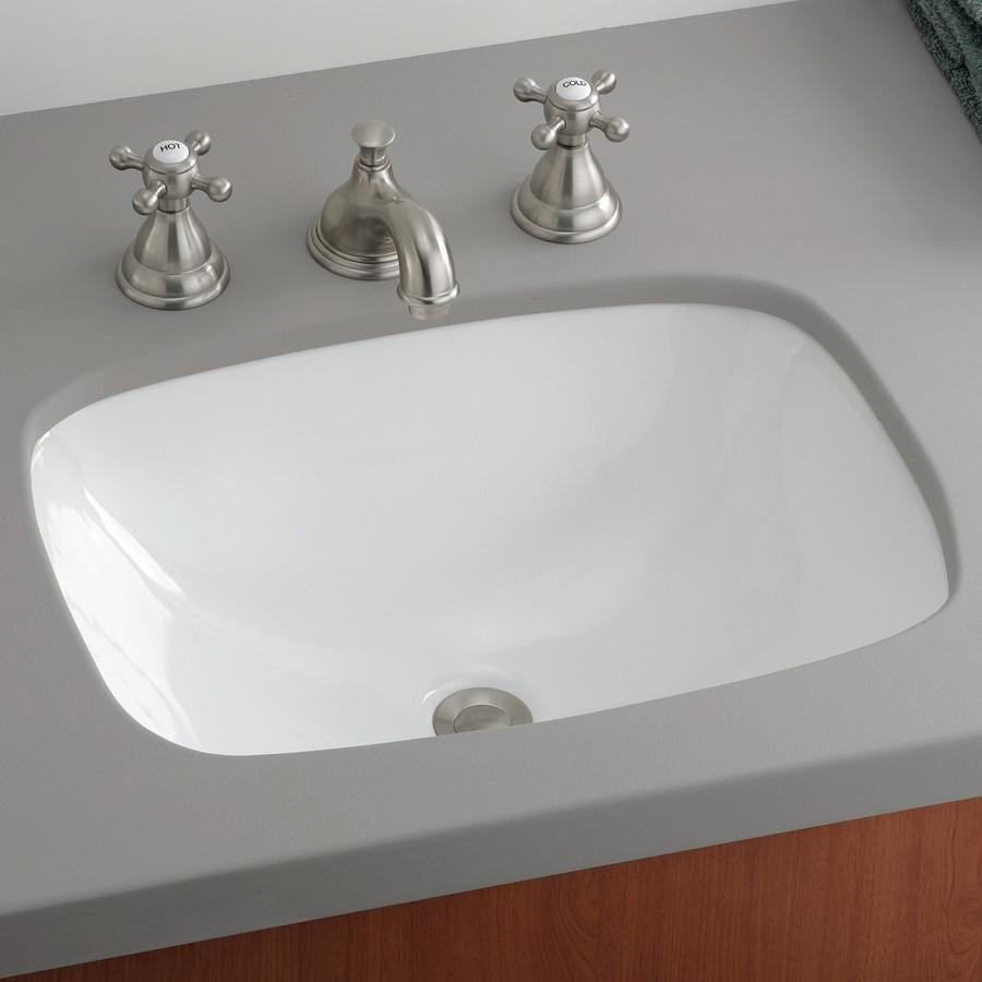 Shop Cheviot Ibiza White Undermount Rectangular Bathroom