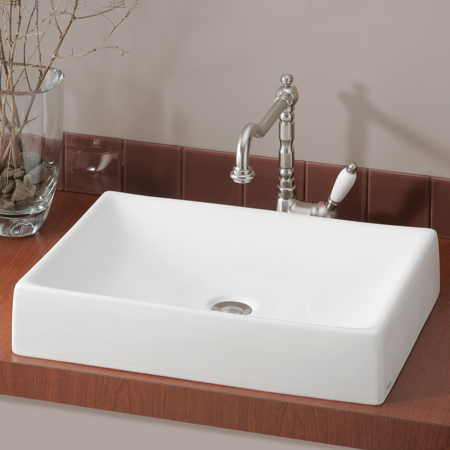 Cheviot Quattro Biscuit Vessel Rectangular Bathroom Sink