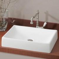 Shop Cheviot Quattro White Vessel Rectangular Bathroom ...