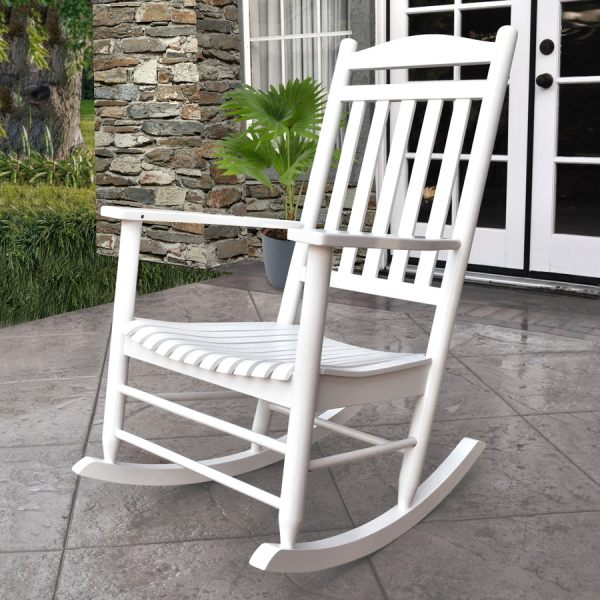 White Porch Rocking Chairs Outdoor