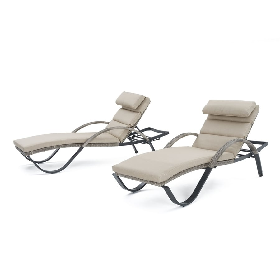 wicker chaise lounge chairs outdoor hickory chair king beds rst brands cannes stackable set of 2 with sunsharp slate grey cushions