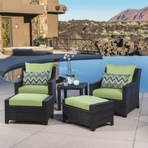 Rst Brands Deco 5-piece Wicker Frame Patio