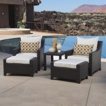 5 Piece Outdoor Conversation Patio Sets