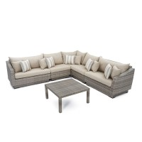Shop RST Brands Cannes 6-Piece Wicker Frame Patio ...