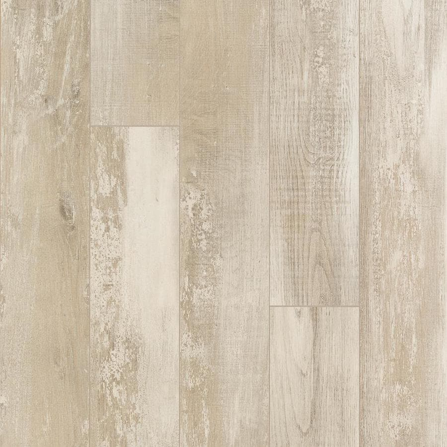 Shop allen + roth Seaside Chestnut Wood Planks Laminate