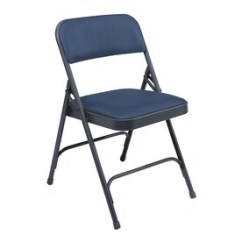 Blue Metal Folding Chairs Chair Backpack At Lowes Com National Public Seating 4 Pack Indoor Steel Banquet