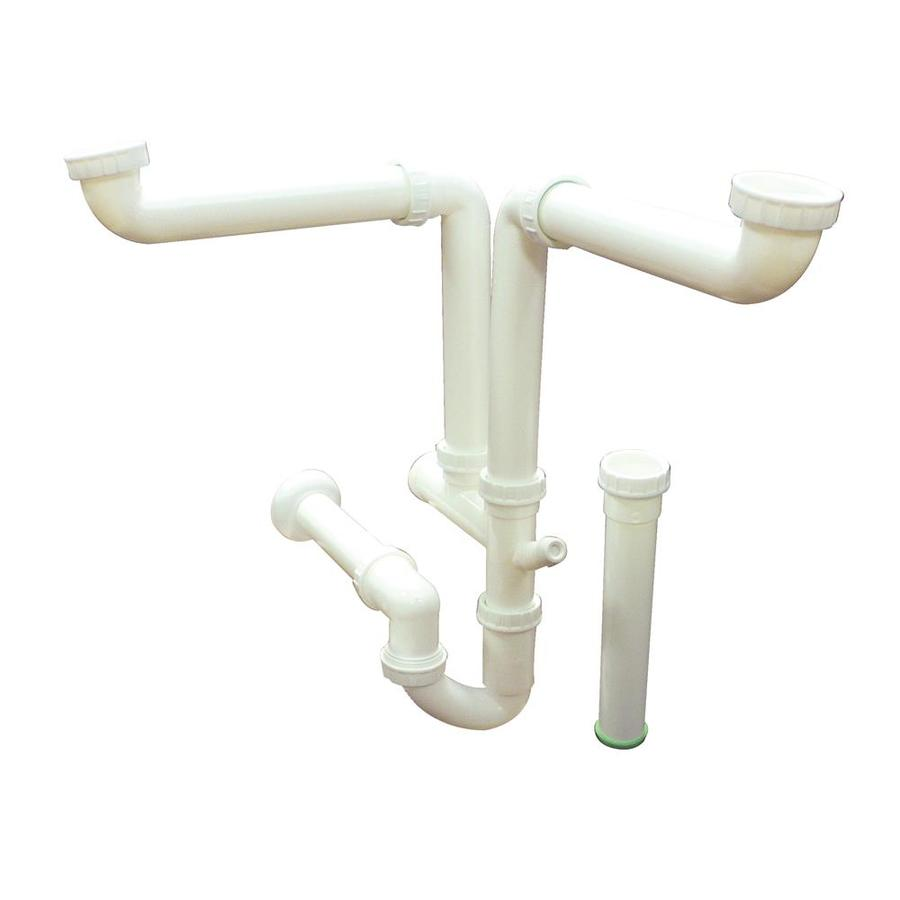 transolid white kitchen sink drain kit lowes com