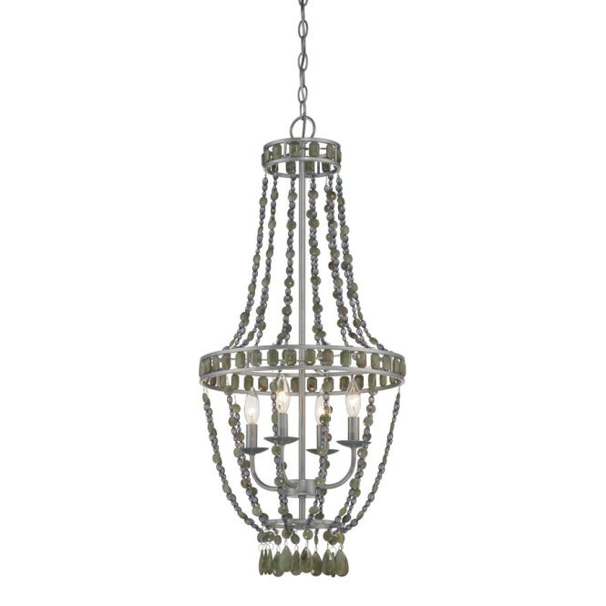 Style Selections 16 In 4 Light Brushed Nickel Standard Chandelier