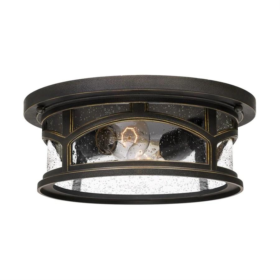 quoizel marblehead 10 25 in w palladian bronze outdoor flush mount light
