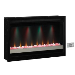 Kitchen Stoves At Lowes Rustic Black Cabinets Shop Classicflame 36-in Electric Fireplace Insert ...
