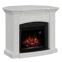 Shop Chimney Free 44-in White Corner Electric Fireplace at ...