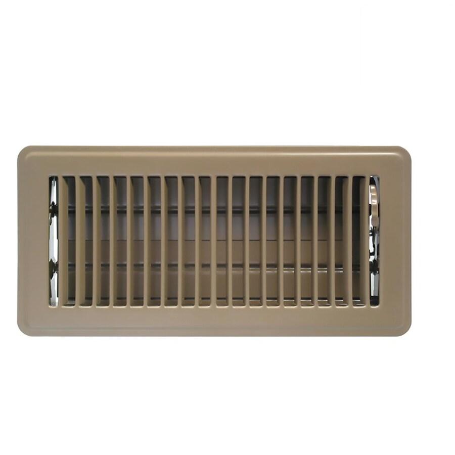 Accord Ventilation Brown Steel Floor Register Duct