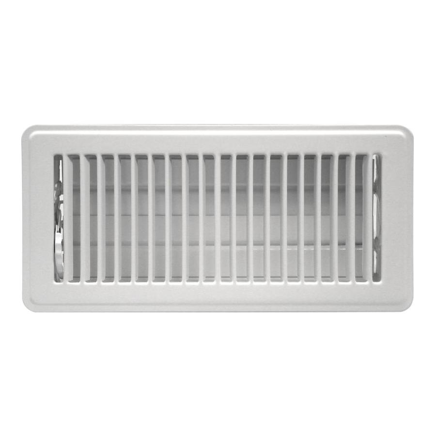 Shop Accord Louvered White Steel Floor Register Rough